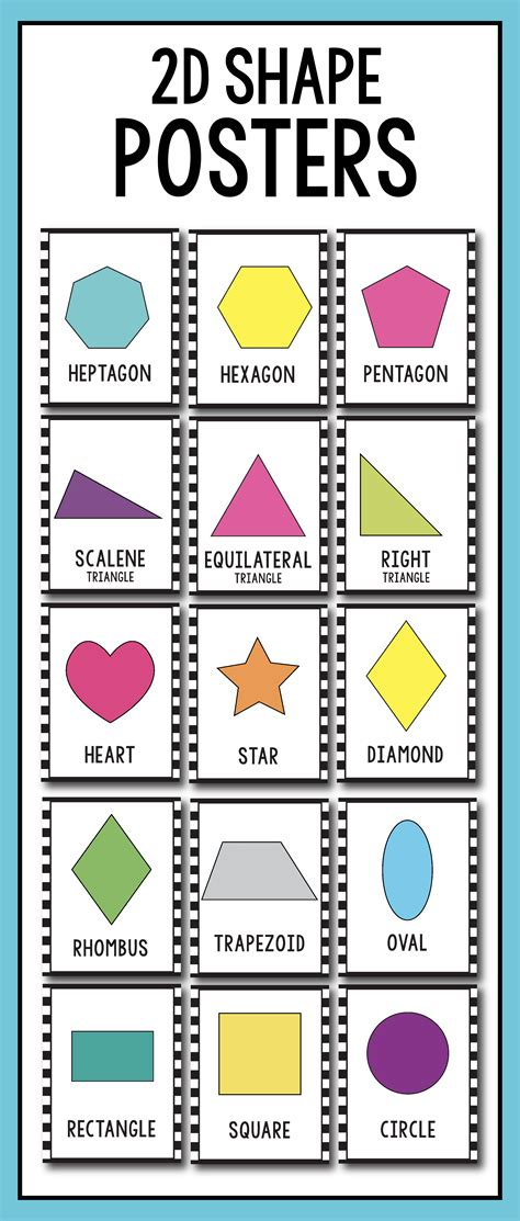 printable polygon poster famous shapes poster printable photos worksheet