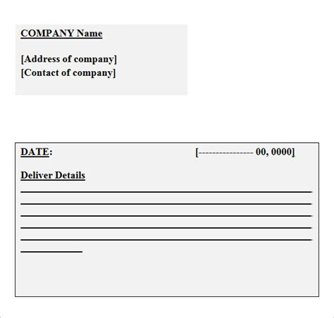 delivery receipt form template word 10 best images of delivery receipt template delivery