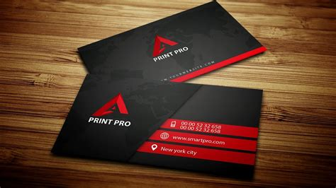 modern black business card photoshop creative tv youtube