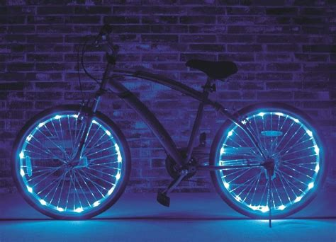 lights on wheels of a bicycle wheel brightz blue 2 pack lights led bike bicycle scooter