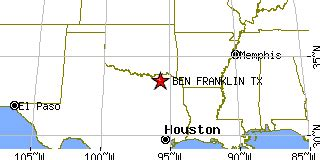 franklin texas map ben franklin texas tx population data races housing economy