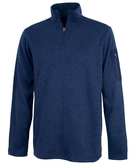 Sweater Fleece Charles River Apparel S Heathered Fleece Pullover