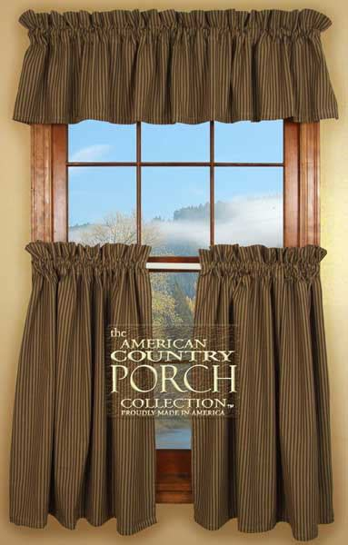 new england curtains new england black tea dyed striped curtain valances