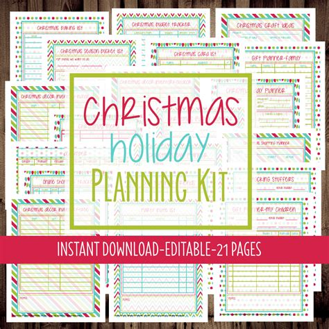 printable christmas organiser get organized for the holidays printable christmas