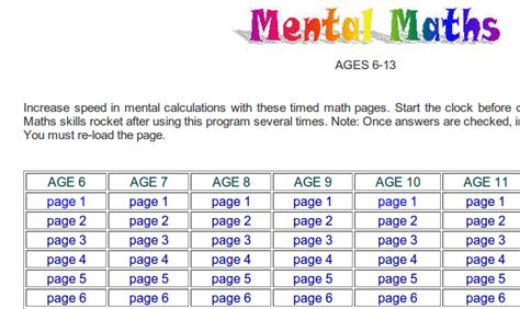test mentali mental arithmetic tests for adults ks3 5 years gcse