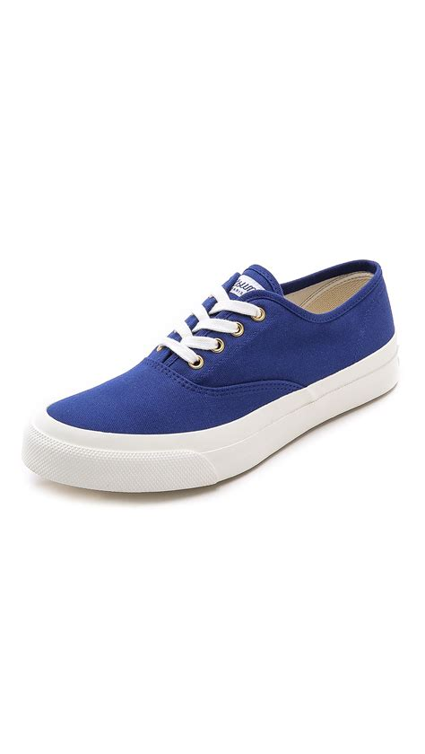 maison kitsun 233 plimsoll sneakers in blue for navy lyst