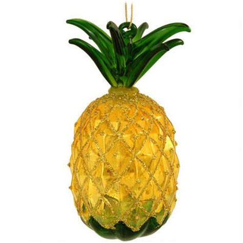 pineapple with glitter ornament christmas ornaments