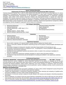 professional resume example senior technical recruiter resume