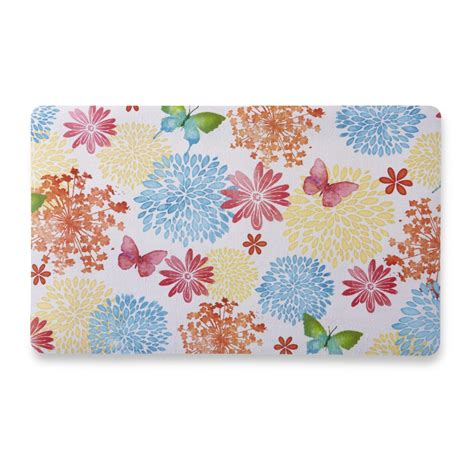 Kmart Kitchen Rugs Essential Home Cushion Kitchen Rug Floral