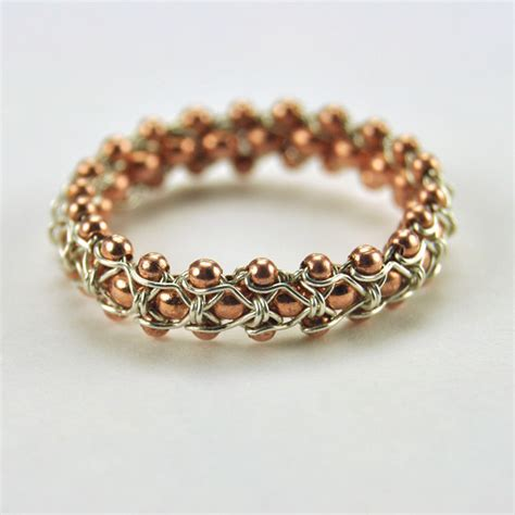 how to make chainmail jewelry biker chain chic ring how to make wire jewelry by