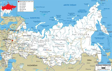 russia map 2015 map of russia with cities