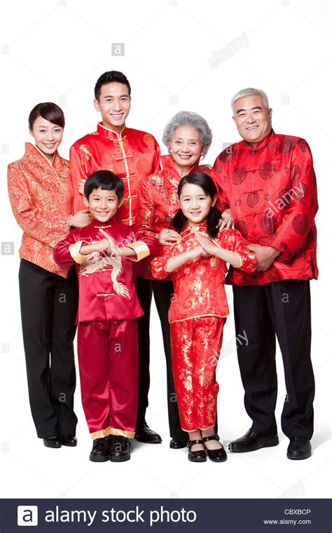 new year traditional clothing family dressed in traditional clothing celebrating
