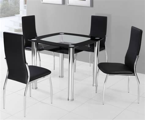 black breakfast table and chairs
