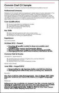 commis chef cv sample myperfectcv