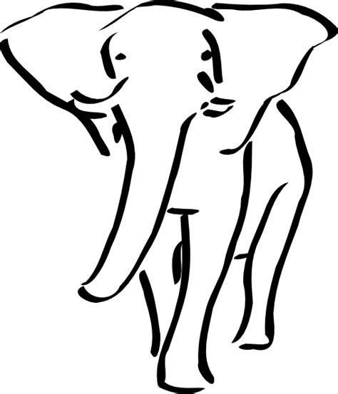 elephant tattoo clipart walking elephant outline clip art at clker com vector
