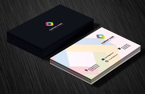 Design Card Template by Professional Business Card Design Template Free