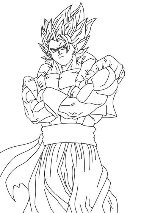 dragon ball z fusion coloring pages gogeta coloring pages az coloring pages