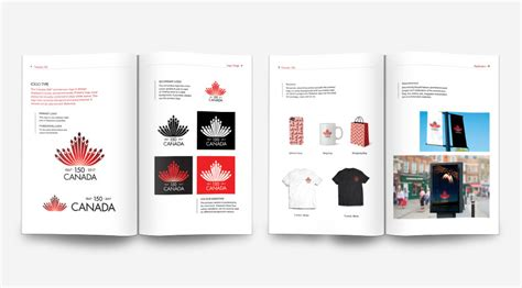 guide book layout brand identity guide book canada 150th anniversary on