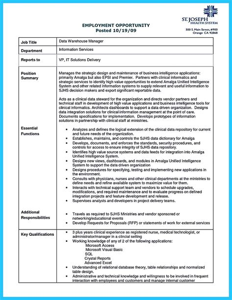 Data Analyst Resume Exles