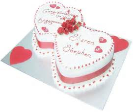 Cake in a box engagement cake entwinned hearts