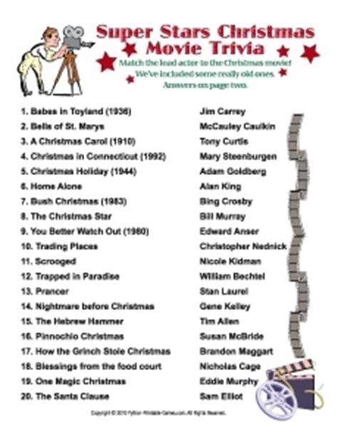 the night before christmas movie trivia trivia printable
