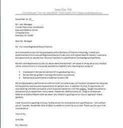 Cover Letter Exles For Nurses by Nursing Cover Letter New Grad Cover Letter Exle Cover Letter Help All About