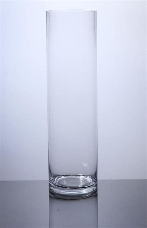 18 Cylinder Vase by Pc518 Cylinder Glass Vase 5 Quot X 18 Quot 6 P C Cylinder Glass