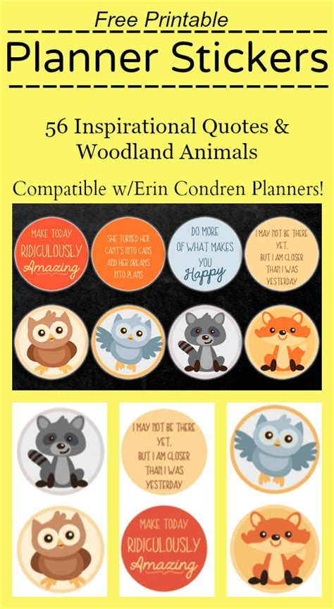printable teacher stickers free printable stickers for erin condren planners
