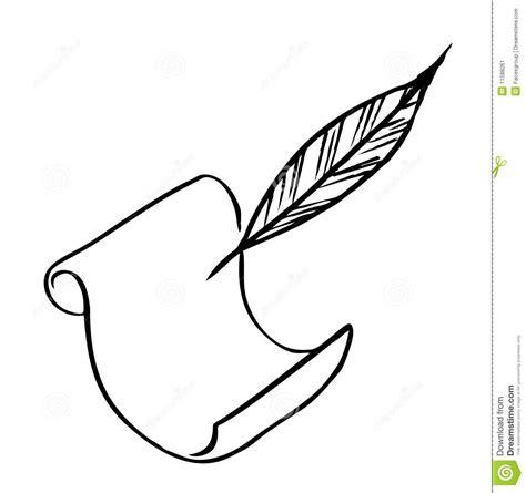 papier und feder papier mit feder stockbild bild 11588261