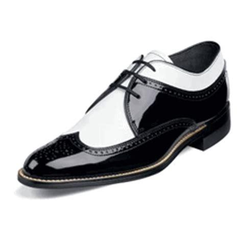 mens dayton black white patent leather