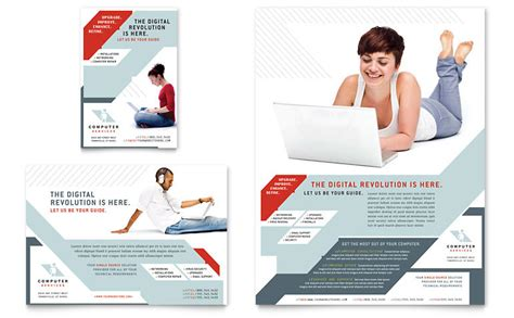 computer brochure templates computer solutions flyer ad template word publisher