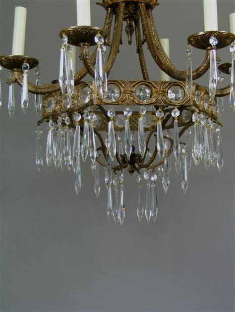 Crystal Prism Chandelier 1940 For Sale At 1stdibs Prisms For Chandeliers