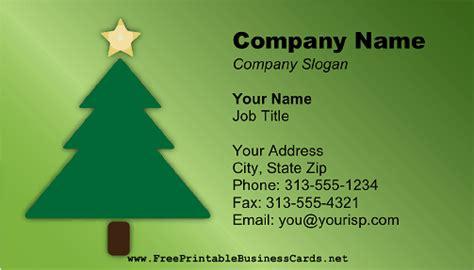 printable christmas business cards christmas tree business card