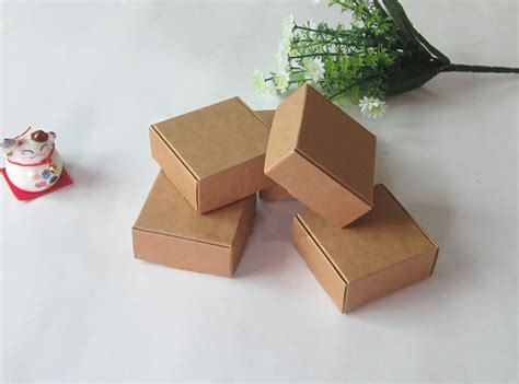 Boxes For Handmade Soap - 7 5x7 5x3cm kraft paper gift boxes handmade soap packaging