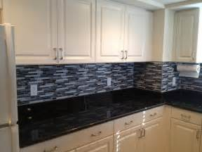 Black Glass Backsplash Kitchen Top 18 Subway Tile Backsplash Design Ideas With Various Types