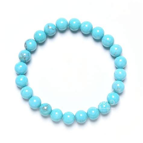 light blue bracelet light blue howlite bead bracelet crystals of the