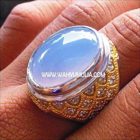 Batu Akik Biru Sepritus batu cincin akik blue chalcedony biru langit 4 wahyu mulia