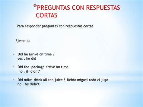 preguntas con did negativas simple present 10