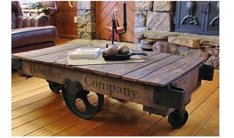 railroad cart coffee table antique lineberry factory cart coffee table railroad diy