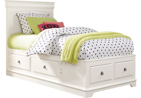 white twin bed with storage drawers oberon white 3 twin panel bed with 4 drawer storage twin