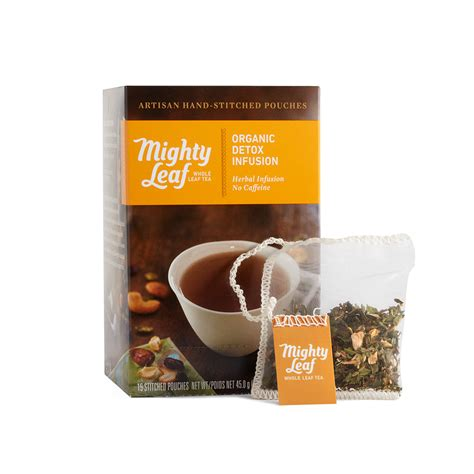 Organic Leaf Detox Tea by Mighty Leaf Organic Detox Infusion Box S Of 15 Whole