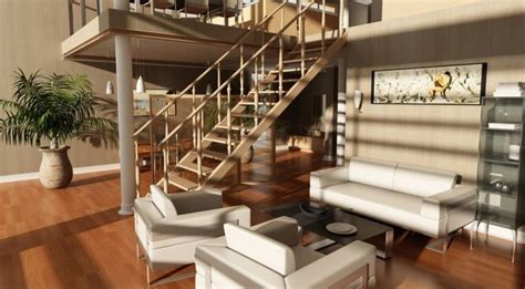 Room Stairs Design Small Living Room With Stairs Design