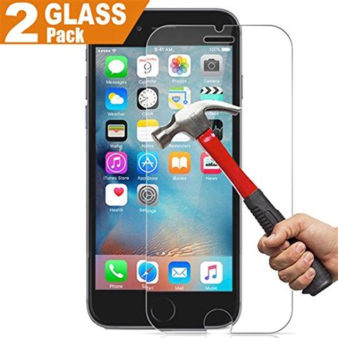 Iphone 55s Tempered Glass 026mm 2 pack lifetime warranty iphone 6 plus 6s plus glass screen protector inarock 0 26mm 9h