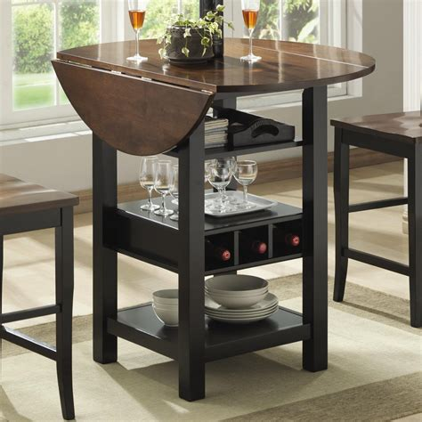 kitchen table counter height with storage ridgewood counter height drop leaf dining table with
