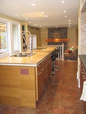 Island Peninsula Kitchen by Range Hood Solution For Open Peninsula Downdraft