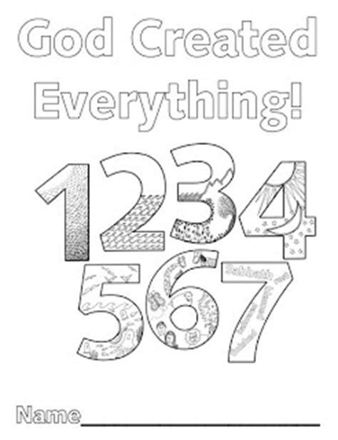 creation numbers coloring page look to him and be radiant creation numbers