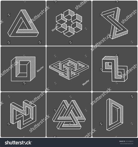 pattern and shape by kurt rowland geometric optical illusion shapes logo identity stock