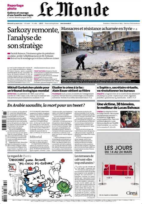reference page for resume la une d un journal education aux medias
