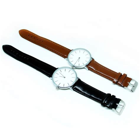 Jam Tangan Murah Fashion Kulit Oem Brown jam tangan analog kulit oem brown jakartanotebook