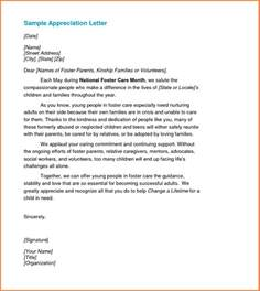Appreciation Letter New Job Sample Recognition Letter Template Best Business Template